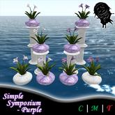 .!CN!. Simple Symposium Flower Arrangement - Purple