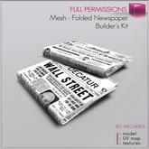 %50SUMMERSALE Full perm Mesh 1 prim Folded Newspaper