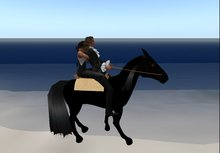 horse Ride walking real two avatar  NOT IS A DEMO