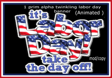 labor day animated 1 prim  banner # 3