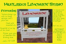 Mudlarks Lemonade Stand: Funny Texture Msgs, w/ Animations & Tip Cup