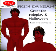 red skin damian, great for roleplay and halloween