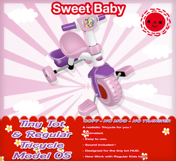 Sweet Baby - Tiny Tot & Regular Tricycle Model 05