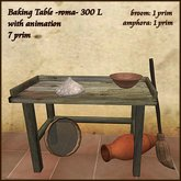 roma Baking Work Table with nice details and animation
