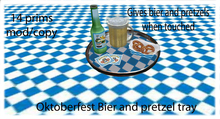 Oktoberfest bier and pretzel tray