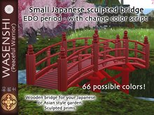 Japanese bridge from Edo period. With color change script