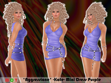 *Aggressione* -Kate- Mini Dress Purple with Appliers