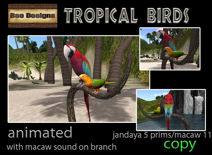 55% OFF!Bee Designs Tropical birds
