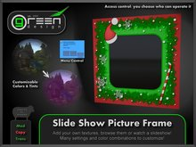 ●GD● Slide Show Picture Frame [Tintable Multi Color, Slideshow] Many customizable options, Screen Christmas Xmas Monitor