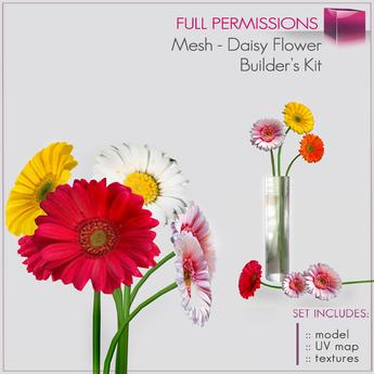 %50SUMMERSALE Full perm Mesh Daisy Flower - Builder's Kit Set