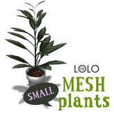 LOLO Potted House Plant #4 (100% mesh, counts as 1 prim)