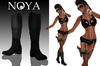 **NOYA** SECRET - Black Sexy Pistol Outfit with Boots