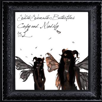 *TDS* Wearable butterflies - White