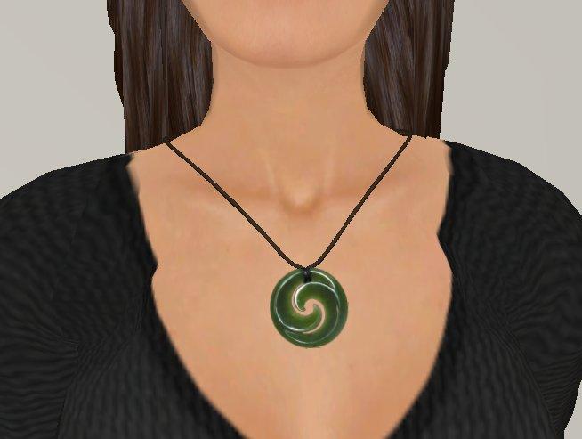 Jade Swirl Pendant necklace