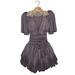 *League* Vintage Chiffon Dress -Purple