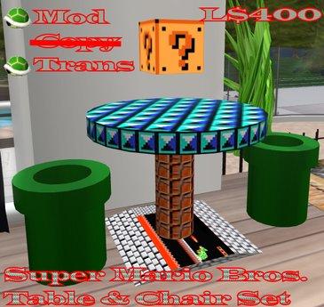 Super Mario Table & Chair Set