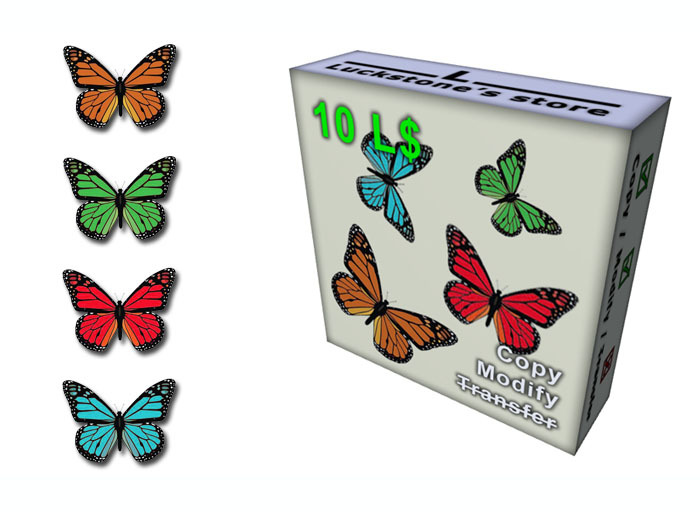 Pack of 4 Flying Butterfly (2 animation for each)