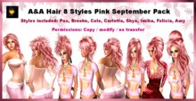 Alli&Ali Hair Pink September 8 Styles - Special Offer! 8 styles at the price of 3!