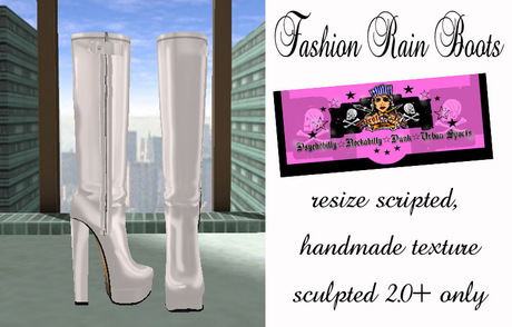 =PIA= Box Fashion Rain Boots - white-