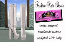 =PIA= Box Fashion Rain Boots - white-