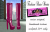 =PIA= Box Fashion Rain Boots -pink-
