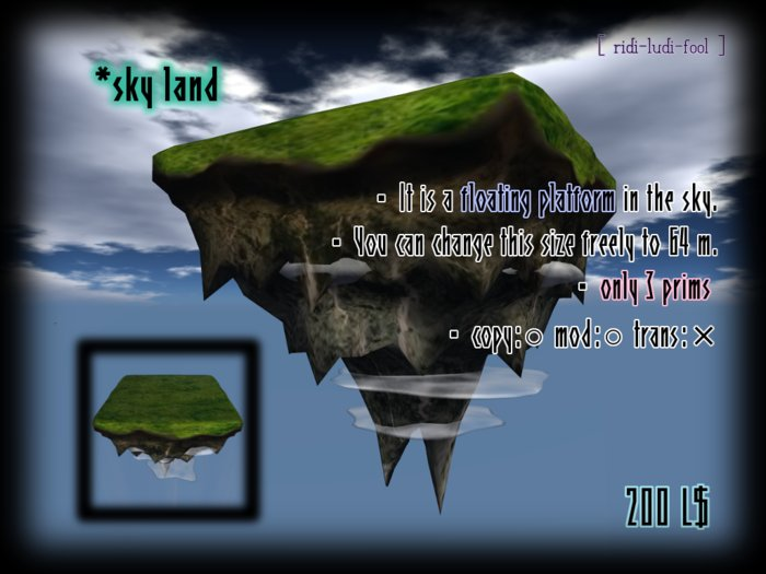 The island floats in the sky ★ for foundation of your sky house
