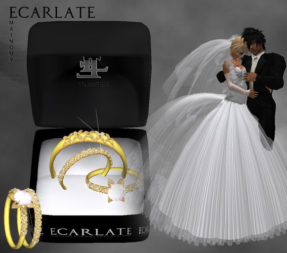Ecarlate - Alliance  Ladies/Men + Engagement (Gold) - Mainomy