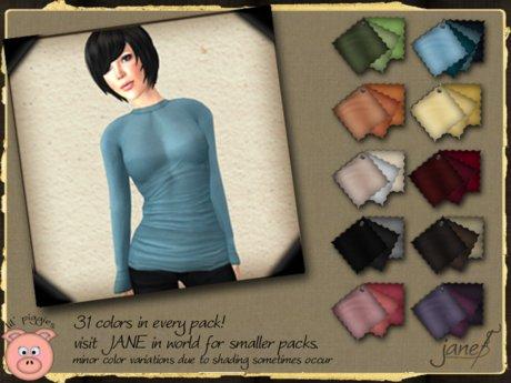 JANE - drew long sleeve tee.31 pack