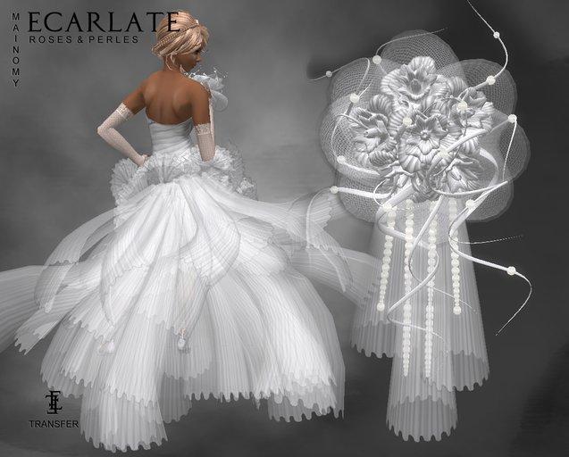 Ecarlate - Bridal bouquet / Bouquet de mariee - Mainomy