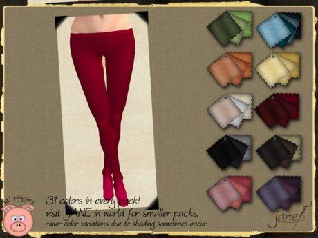 JANE - lil piggies tights.waffleknit.31 pack