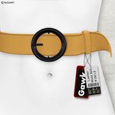 Gawk! Leather Waist Belt - ADVOCAAT -