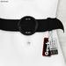Gawk! Leather Waist Belt - BLACK -