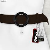 Gawk! Leather Waist Belt - BROWN -