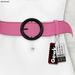 Gawk! Leather Waist Belt - LIGHT PINK -