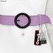 Gawk! Leather Waist Belt - LILAC -