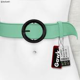 Gawk! Leather Waist Belt - MINT -