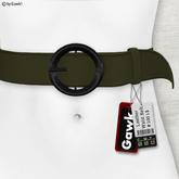 Gawk! Leather Waist Belt - OLIVE -