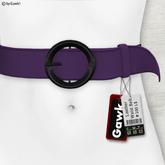 Gawk! Leather Waist Belt - PURPLE -