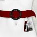 Gawk! Leather Waist Belt - RED -