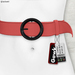 Gawk! Leather Waist Belt - SALMON -