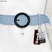 Gawk! Leather Waist Belt - SKY BLUE -