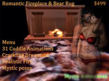 Romantic fireplace & Bear Rug