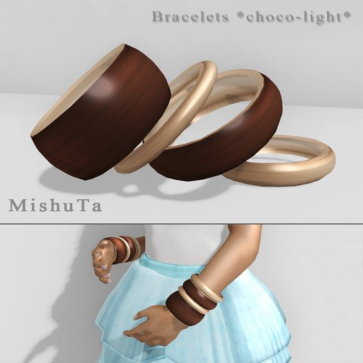 MishuTa - bracelet choco-light*