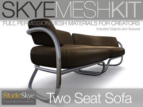 PROMO Skye MESH Kit - Full Perms Two Seat Sofa