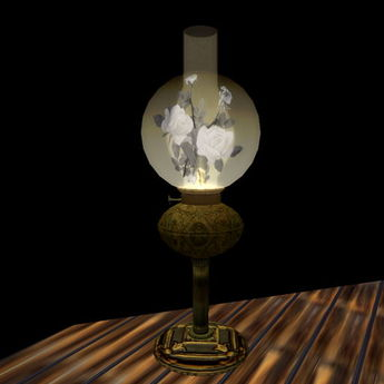 Paladin's Antique 1890 Oil Lamp with adjustable wick and flame