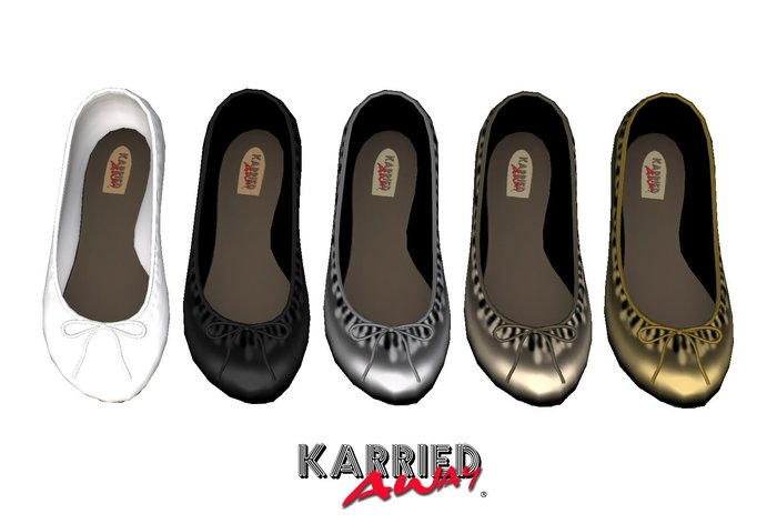 Karried Away Ballet Flats 5-Pack Black/White/Metallics