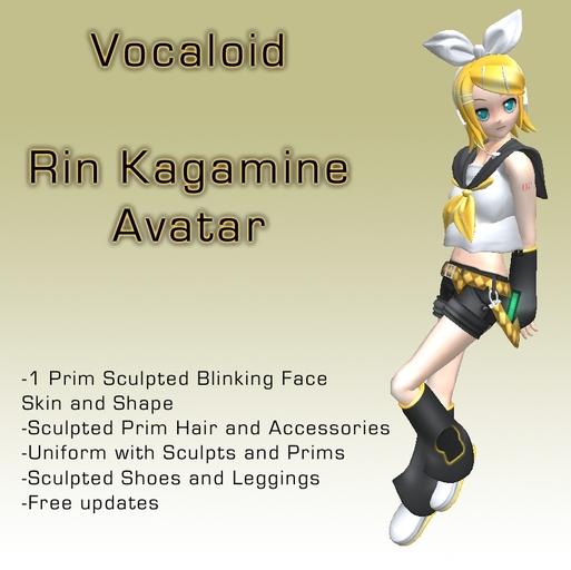 Rin Kagamine Anime Avatar