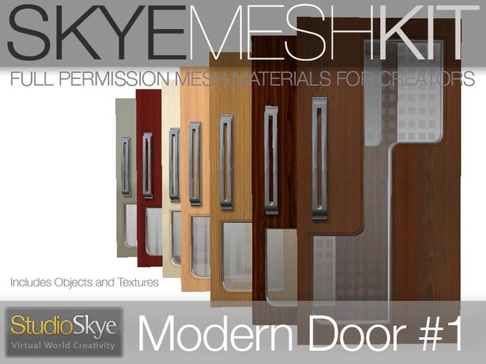 Promo! Skye MESH Kit - Full Perms 3 PRIM Modern Door