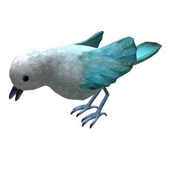 LOLO Animated Mesh Bird - 3PE, Only 3 Prim! - Classic Blue Original