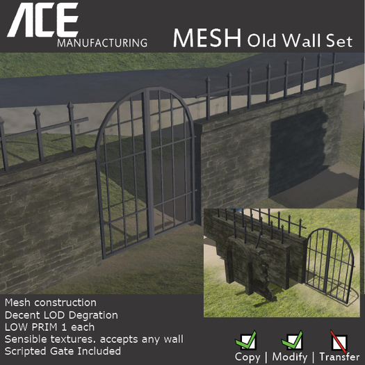 [Ace Manufacturing] MESH Old Wall Set